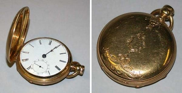 21: Rare Gold Hunting Case Watch