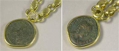 534 Gold Necklace and Coin Pendant