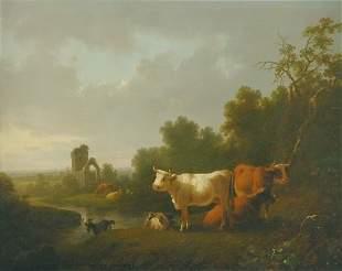 Joshua H. Shaw 1776-1861 Early Morning Along a Ri