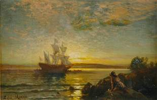 Edward Moran 1829-1901 Arrival to the New World