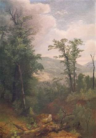 Asher Brown Durand 1796-1886 Forest Interior with