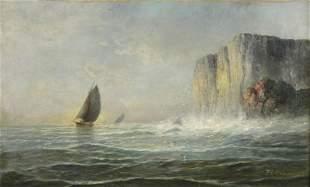 Franklin Dullin Briscoe 1844-1903 Rocks on the Pa