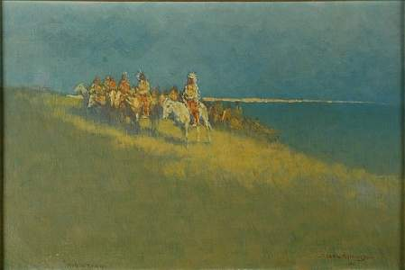 2446: Frederic Remington 1861-1909 Hole in the Day, 190