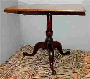 Chippendale Maple Tilt-Top Tea Table