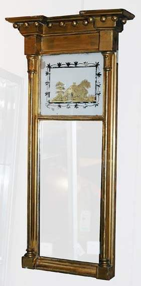 Federal Gilt-Wood and Eglomise Mirror