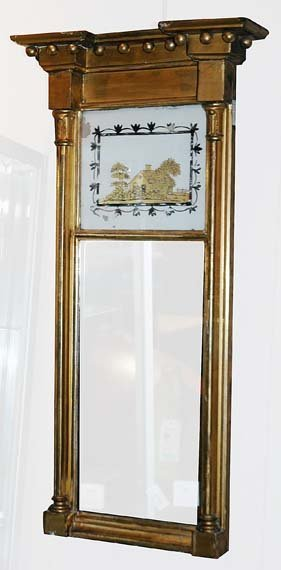 2003: Federal Gilt-Wood and Eglomise Mirror