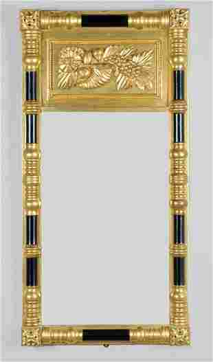 Classical Gilt-Wood and Ebonized Pier Mirror