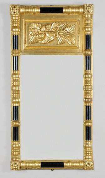 2006: Classical Gilt-Wood and Ebonized Pier Mirror