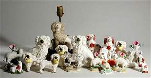 Group of Staffordshire Pottery and Porcelain Figu