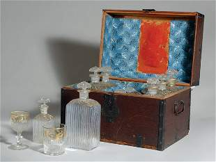 George III Fitted Decanter Box; Together with Re