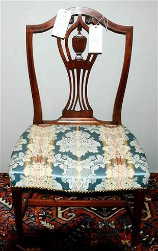 Federal Carved and Inlaid Mahogany Side Chair