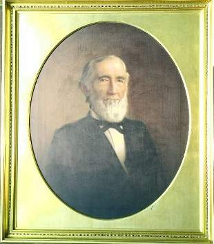 American School 19th Century ANCESTRAL PORTRAIT