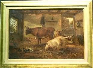 C. McCulloch British, 19th/20th century CATTLE IN