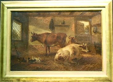 1024: C. McCulloch British, 19th/20th century CATTLE IN