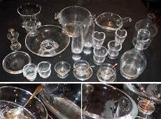 1201 Miscellaneous Group of Steuben Glass Articles