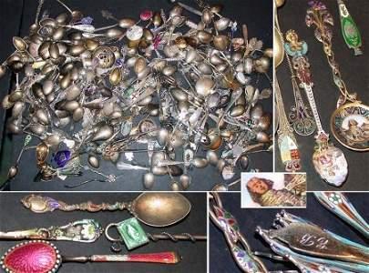 1303: Miscellaneous Group of Silver and Enamel Souvenir