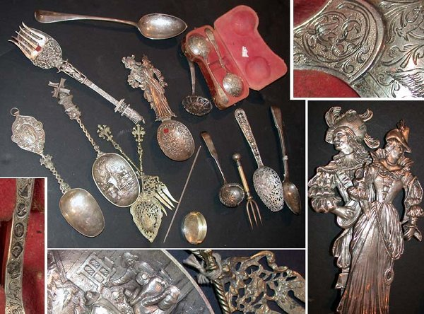 1310: Miscellaneous Group of Continental Silver Serving