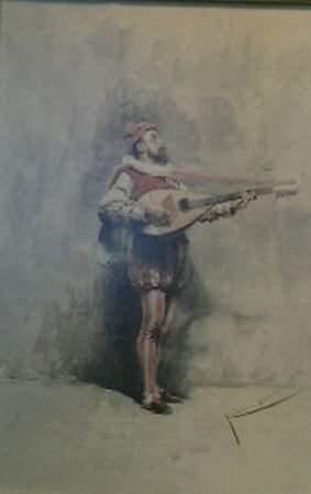 Carlo Randanini Italian, d.1884 MINSTRAL