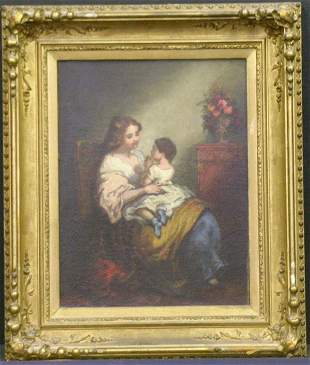 William Brigham American, 1834-1863 MOTHER AND CH