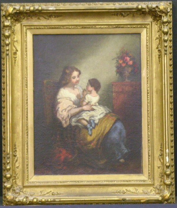 2018: William Brigham American, 1834-1863 MOTHER AND CH