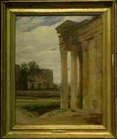 Manner of Jean Baptiste Camille Corot ROMAN FORUM