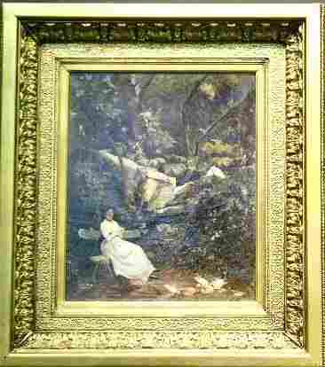 Euphemie Muraton French, 1840-1914 HE LOVES ME, H