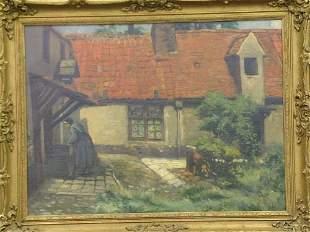 Continental School 19th Century FARMHOUSE