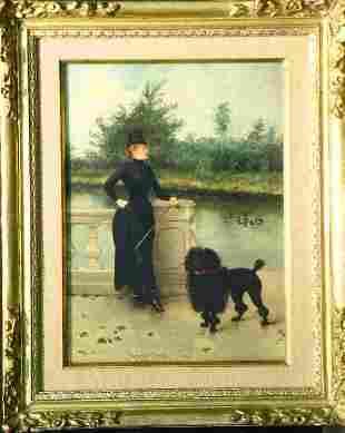 Georges Croegaert Belgian, 1848-1923 GIRL'S BEST