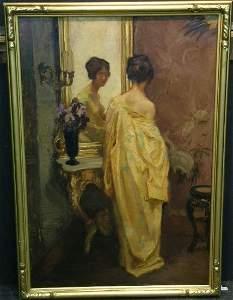 2069: William Hempfing German, 1886-1951 WOMAN IN KIMON