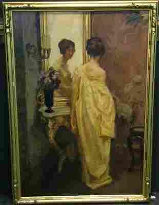William Hempfing German, 1886-1951 WOMAN IN KIMON