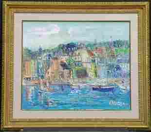 Yolande Ardissone French, b.1927 VILLE A HONFLEUR