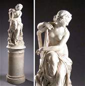 2603: Italian Marble Statue of a Classical Maiden