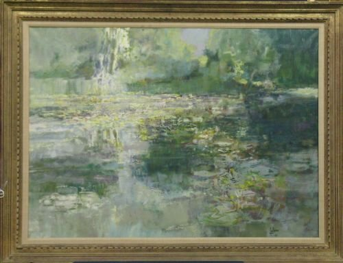 3023: Louis Fabien French, b.1924 LILY POND