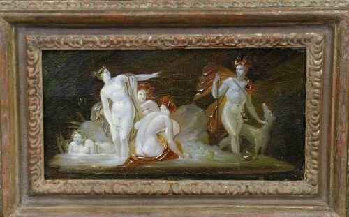 3024: French School 19th Century DIANA AND NYMPHS
