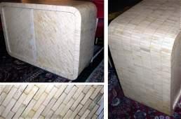 3163: Bone Veneered Side Cabinet