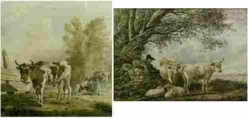 Dutch School 18th Century COWS IN LANDSCAPE; Togethe
