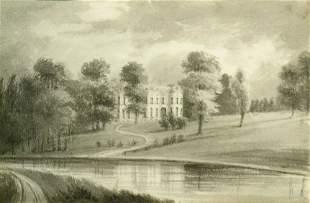 British School 19th Century COUNTRY ESTATE