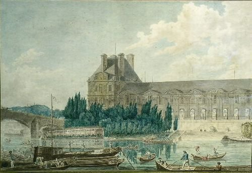 4: French School 18th/19th Century LOUVRE FROM THE RIVE