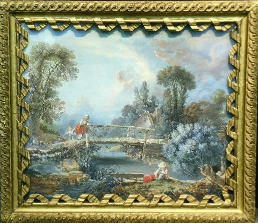 5: Manner of Francois Boucher FISHERFOLK IN A LANDSCAPE