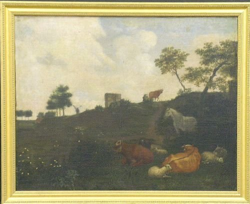 9: Follower of Aelbert Cuyp 18th Century SHEEP IN A PAS