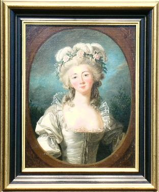 10: Follower of Jean-Marc Nattier PORTRAIT OF A LADY WI