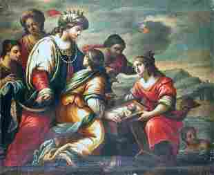 Genovese School 17th Century FINDING OF MOSES