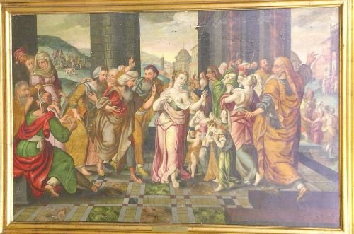 14: Manner of Jan Metsys BIBLICAL SCENE