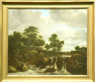 Manner of Jacob van Ruisdael CASCADE
