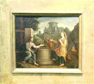 Manner of Poussin CHRIST AND THE WOMAN FROM SAMARIA