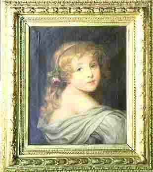 After Jean-Baptist Greuze PORTRAIT OF A GIRL