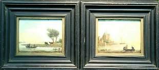 Dutch School 19th Century DUTCH RIVER SCENES: TWO