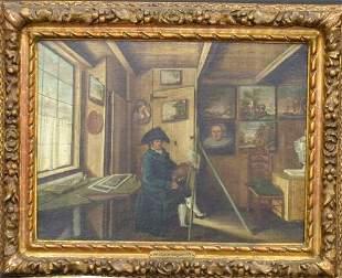 Dutch School 18th Century PORTRAIT OF AN ARTIST IN
