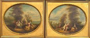 Circle of Henry Andrews FETES CHAMPETRES: TWO