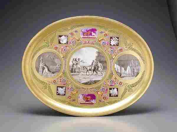 538: Sevres Porcelain Tray